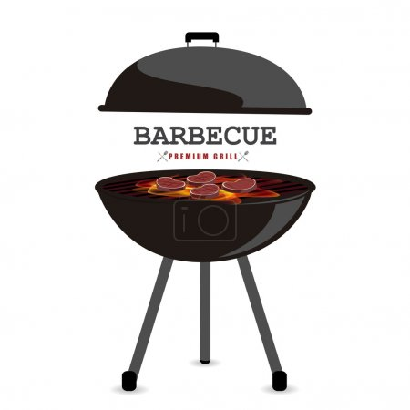 Illustration for Barbecue vector illustration - Royalty Free Image