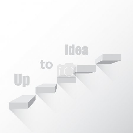 Background the idea of steps to go up vector