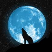 Moon view from the ground Howling Wolf Elements of this vector furnished by NASA