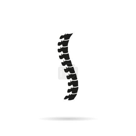 Spine diagnostics symbol with shadow...