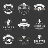 Vintage Logos Design Templates Set Vector logotypes elements collection