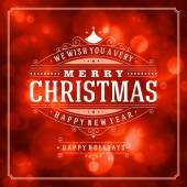 Christmas retro typography