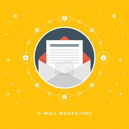 Concept of E-mail marketing