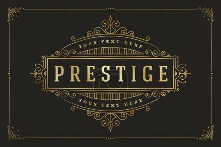 Illustration pour Ensemble d'insignes ou logotypes vintage rétro. Éléments de design vectoriel, enseignes commerciales, logos, identité, étiquettes, badges et objets - image libre de droit