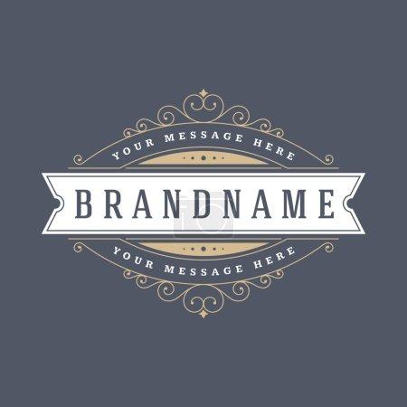 Retro Vintage Insignias or Logotypes set vector design elements