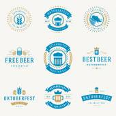 Badges and logos set Beer festival Oktoberfest