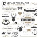 Retro vintage typographic design elements. Arrows,...