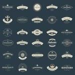 Retro Vintage Logotypes or insignias set. Vector d...