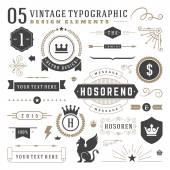Retro vintage typografické prvky