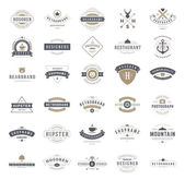 Retro Vintage Logotypes or insignias set Vector design elements