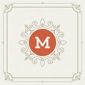 Luxury Logo template flourishes calligraphic elegant ornament lines