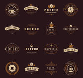 Coffee Shop Logos Badges and Labels Design Elements set