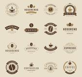 Coffee Shop Logos Badges and Labels Design Elements set