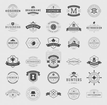 Retro Vintage Logotypes set