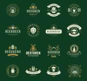 Set Beer Logos Badges and Labels