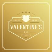 Happy Valentines Day Greeting Card or poster vector illustration