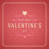 Valentines Day Greeting Card or Poster Vector illustration Retro typography design and texture background