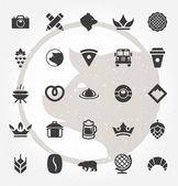 Retro Hand Drawn Logos Design Elements Logos Icons Logos Symbols