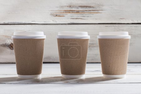 Ripple cups with lids.