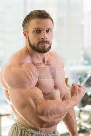 Strong muscular man.