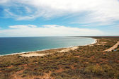 Panoramic Australian landscape - The Bay of Exmouth.  Yardie Creek Gorge in the Cape Range National Park, Ningaloo.