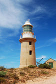 Panoramic Australian landscape - The Bay of Exmouth.  Yardie Creek Gorge in the Cape Range National Park, Ningaloo, View of Lighthouse.