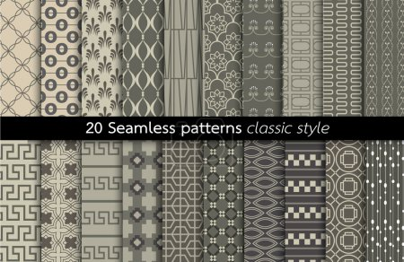 Geometric Seamless Patterns.vector