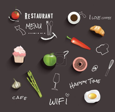 Illustration for Restaurant menu design.vector illustration - Royalty Free Image