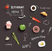 étterem menü design