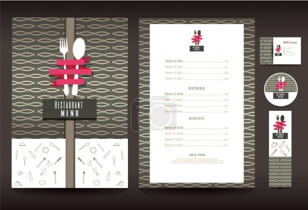 Illustration for Restaurant or cafe menu vector design template vintage style - Royalty Free Image