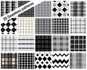 Big set patterns plaid style  pattern swatches included for illustrator user pattern swatches included in file for your convenient use