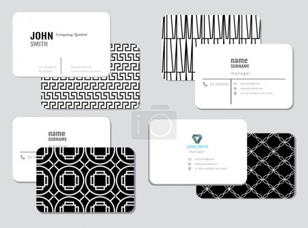 Illustration for Modern simple business card template, vector illustration - Royalty Free Image