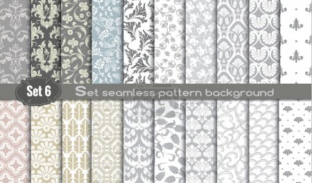 Illustration for Vector damask seamless pattern background.pattern swatches included for illustrator user, pattern swatches included in file, for your convenient use. - Royalty Free Image