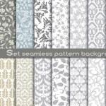 Vector damask seamless pattern background.pattern ...