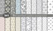 Vector damask seamless pattern backgroundpattern swatches included for illustrator user pattern swatches included in file for your convenient use