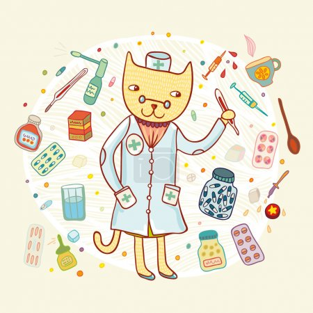Doctor cat card