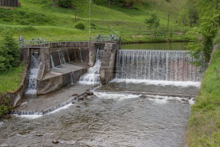 Waterfall - water - river - barrage