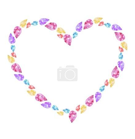 Jewelry heart frame