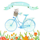 Bicycle dog in basket