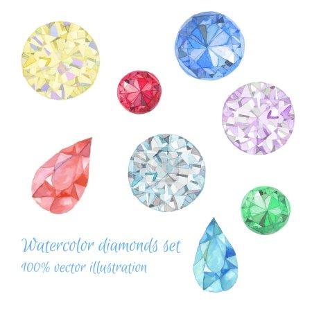 Watercolor jewelry set