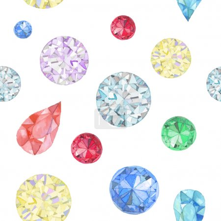 Watercolor diamonds seamless pattern