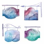 Watercolor bright singboard set