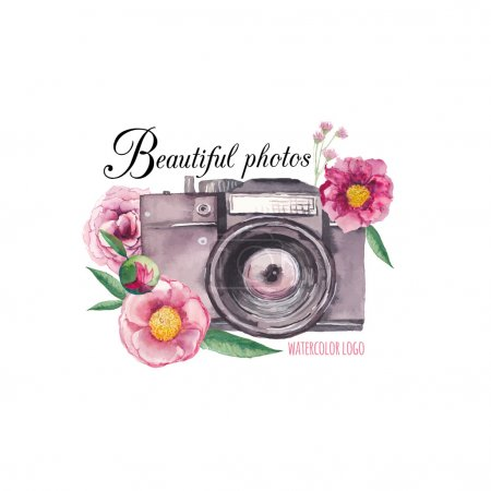 Watercolor photo label