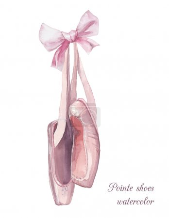 Watercolor pointe shoes
