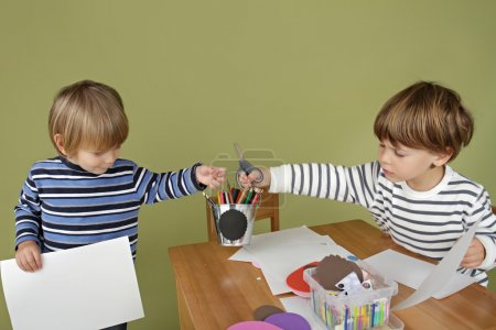 Kids Arts and Crafts Activity, Sharing and Playing Together