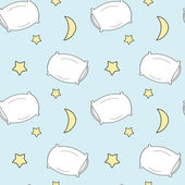 cute cartoon pillow seamless vector pattern illustration for kids