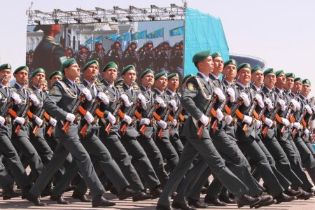 Parade of Victory Day on 9 May in Astana, Kazakhstan