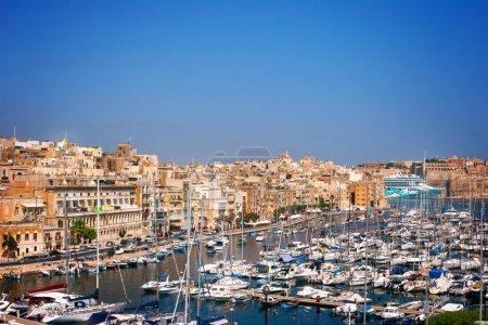 View of great harbor in Valletta