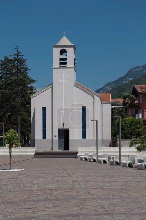 modern church in torbole, italy