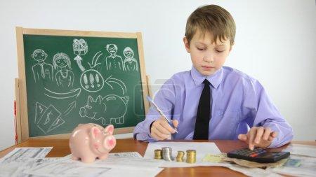 Foto de Concepto biznets - boy es un proyecto empresarial - Imagen libre de derechos
